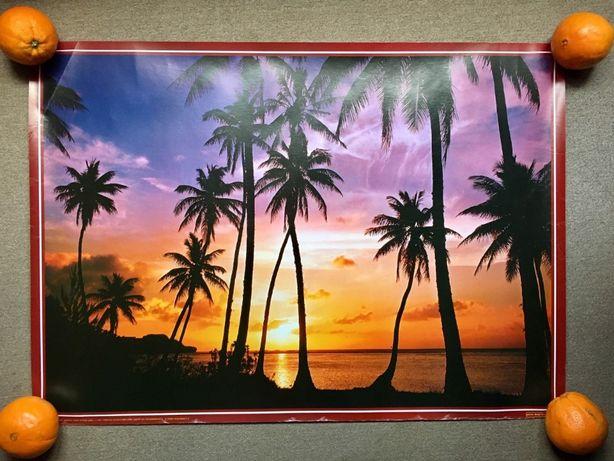 Poster quadro grande de paisagem tropical