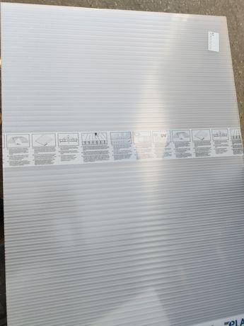 Poliwęglan komorowy 10mm opal / mleczny formatki 262x43cm 2 sztuki