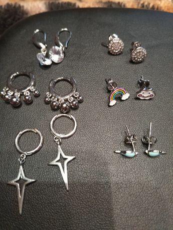Детские серебряные серьги для девочки, новые