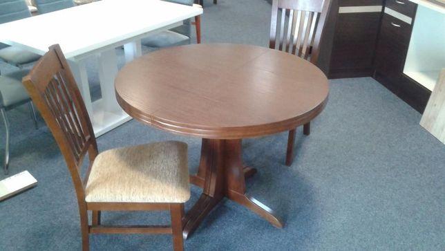 Stół okrągły rozkładany i krzesła (opcjonalnie)