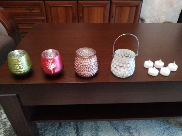 Lampiony świeczniki 4 sztuki na tealighty