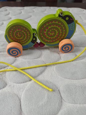 Ślimak na sznurku, drewmiany Oops