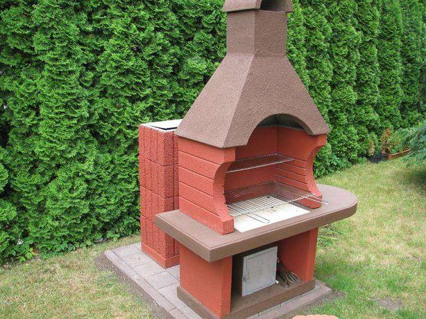 betonowy grill ogrodowy grill wędzarnia dwa w jednym