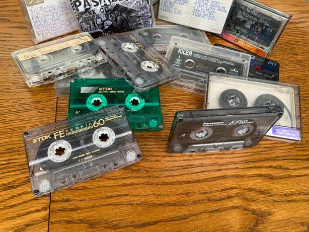 Kasety magnetofonowe audio stare zabytek PRL różne rodzaje