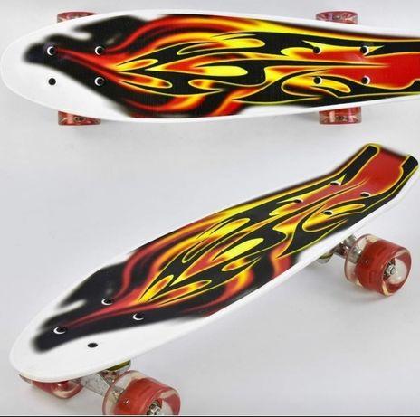 Скейт Пенни борд.колеса светяться 480 грн