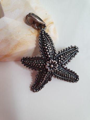 Срібний кулон морська зірка