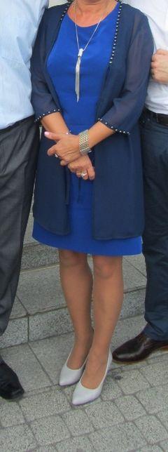 Elegacka sukienka z bolerkiem 42