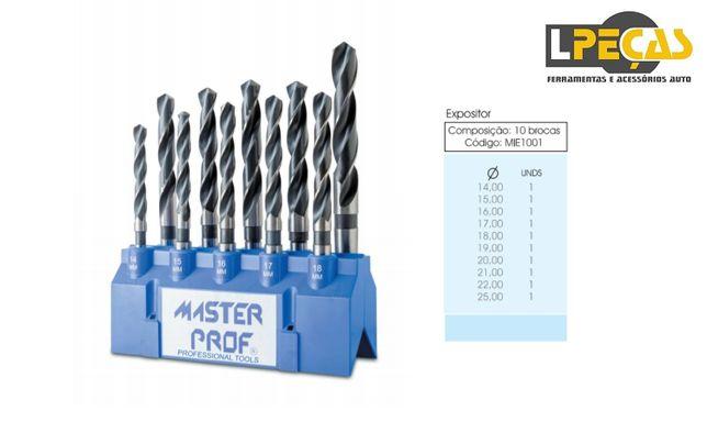 Expositor com Brocas Helicoidais HSS - 10 PCS