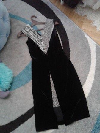 платье нарядное черный бархат