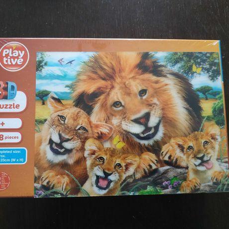 Puzzle 3d Lwia rodzina NOWE