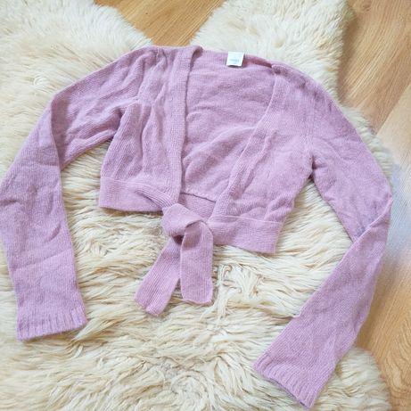 Jak nowe Bolerko sweterek krótki raz założone z wiązaniem Camaieu r. M
