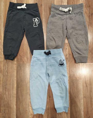 3 pary spodni dresowych r. 86 C&A Baby Club