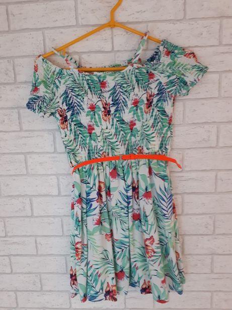 Sukienka na lato C&A r.140 stan idealny