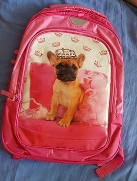 Plecak szkolny - różowy dla dziewczynki z motywem pieska