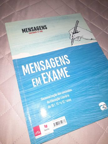 """Caderno de atividades """"Mensagens 12"""" como novo"""