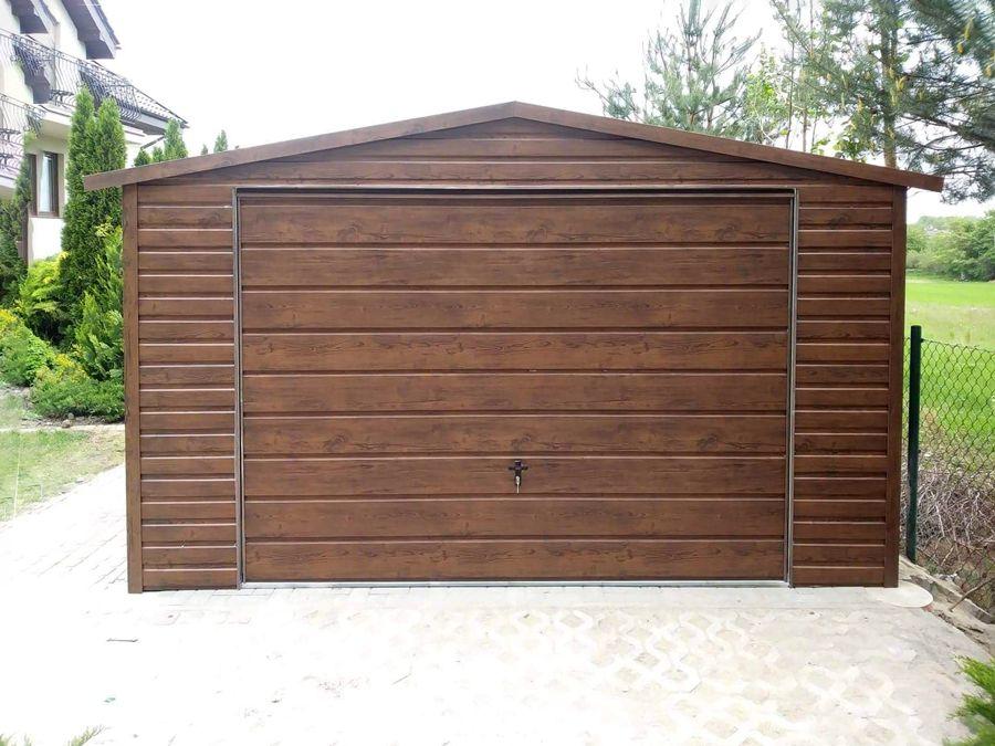 Garaż blaszany drewnopodobny 4x6 garaże blaszaki z profila PRODUCENT Bielsko-Biała - image 1