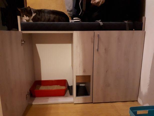 Szafka na kuwetę i buty oraz legowisko dla kota