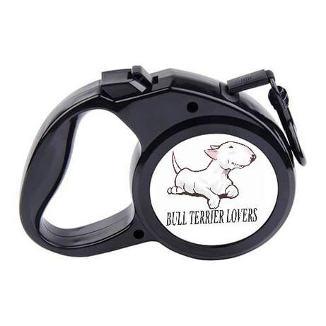 Smycz automatyczna dla psa bullterrier różne wzory własny wzór doberma