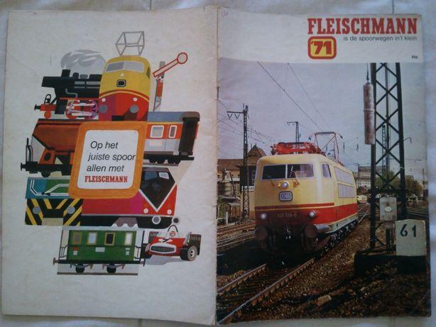 Catalogo Fleischmann comboios / brinquedos HO 1971, em Alemão