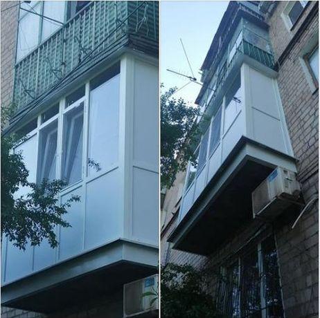 Металлопластиковые окна. Балкон под ключ, лоджии. Французский балкон.