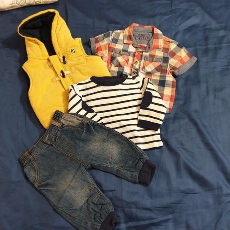 Komplet ubrań w r.68 dla chłopca