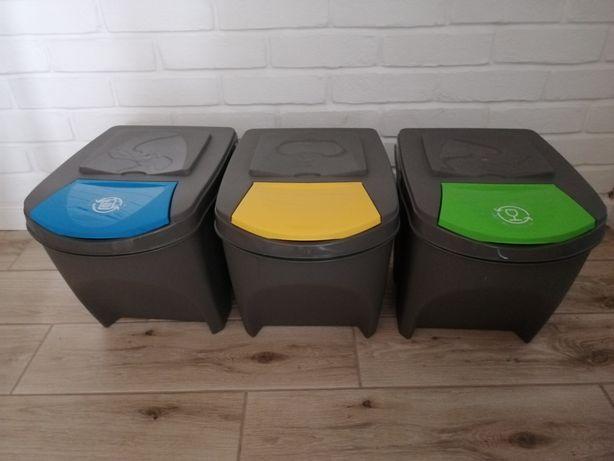 Zestaw 3 koszy do segregacji śmieci