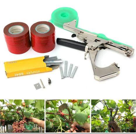 Máquina de atar varas videiras, kiwis, árvores, mirtilos, framboesas