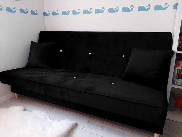 NOWA wersalka sofa kanapa łóżko z kryształkami GLAMOUR tapczan