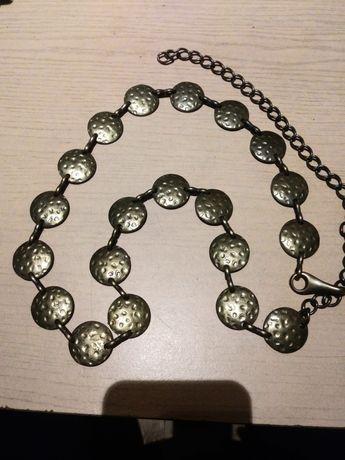 Pasek metalowy z łańcuszkiem