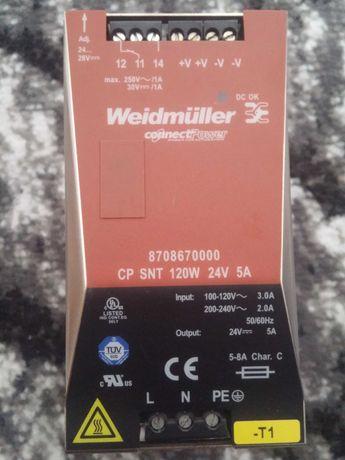 Zasilacz Impulsowy Cp Snt 120W 24V 5A WEIDMULLER jednowazowy