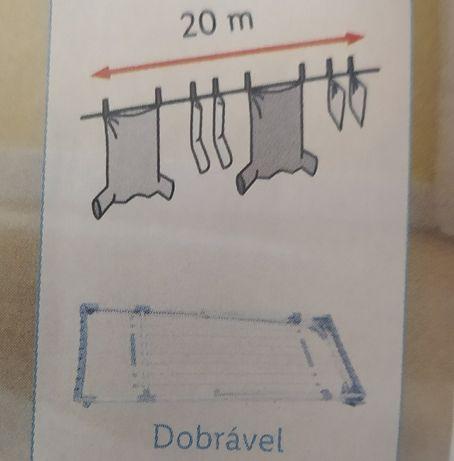 Estendendal extensívell para secar a roupa em alumínio como novo