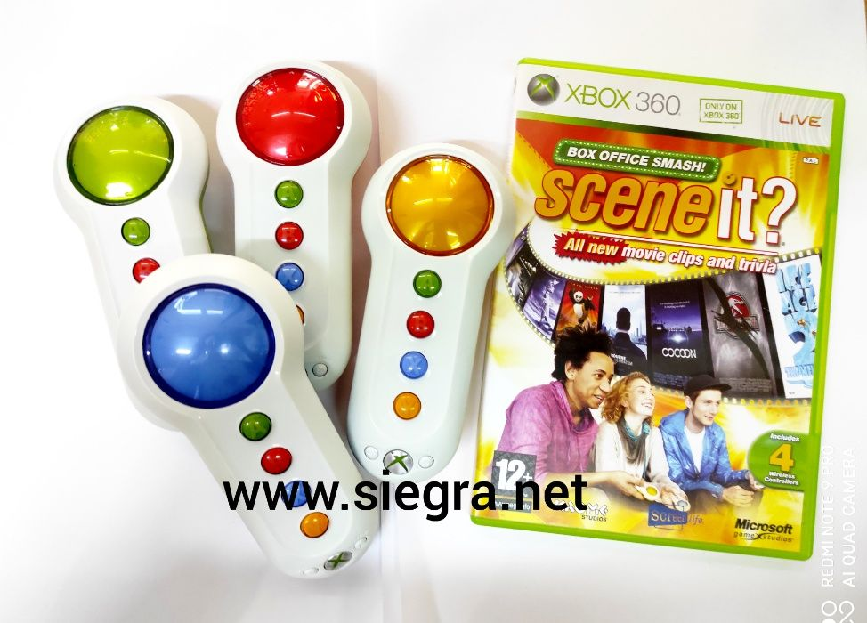 Gra scene it plus kontrolery Xbox 360