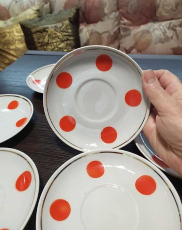 Сервиз Довбыш  времен СССР 70-е винтаж блюдце посуда фарфор бу