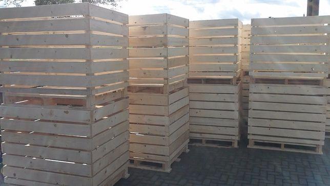 Skrzynie Skrzyniopalety Skrzynki drewniane na warzywa i owoce.