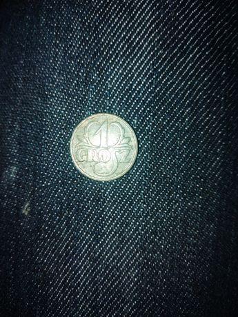 Moneta 1 GR z 1938 roku