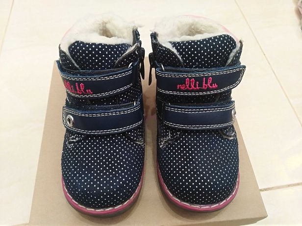 Buty dziecięce zimowe roz.23 dla dziewczynki Nelli blu