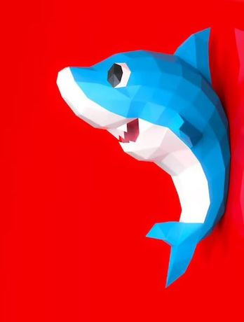 Papercraft Baby Shark