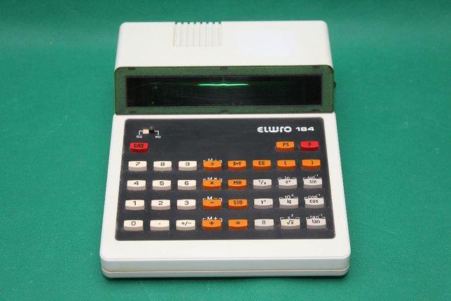 Unitra rzadki kalkulator ELWRO 184 z plombą !