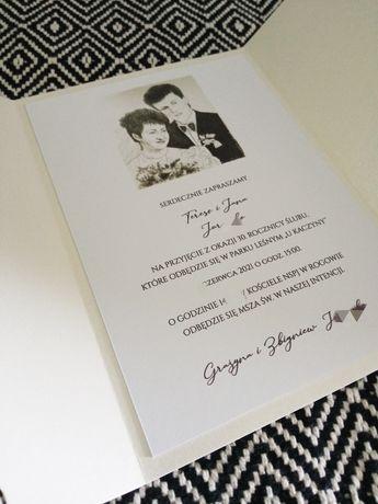 Zaproszenie ślub/ rocznica/ chrzest itp. Z portretem lub zdjeciem
