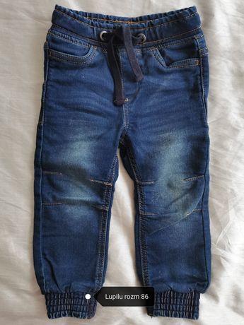 Spodnie bawelniane jeansowe Lupilu nowe rozm 86