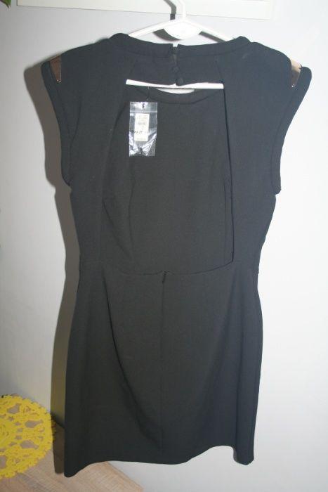Sukienka odkryte plecy mała czarna 38 M Dębica - image 1
