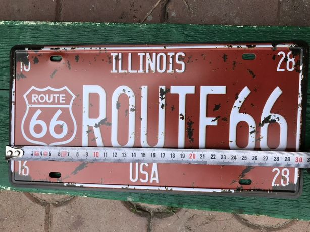 Номер американский США Route 66 трасса usa custom plate винтаж ретро