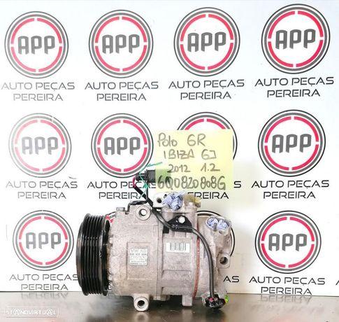 Compressor ar condicionado VW Polo 6R, Ibiza 6J 1.2 12V referência 6Q0820808G.