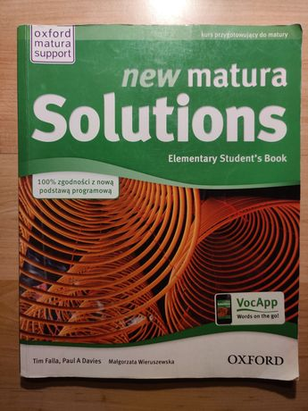 New Matura Solutions. Elementary Student's Book