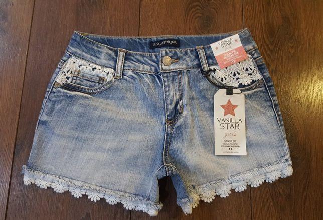 Vanilla Star Jeans oryginalne spodenki z USA 152 nowe