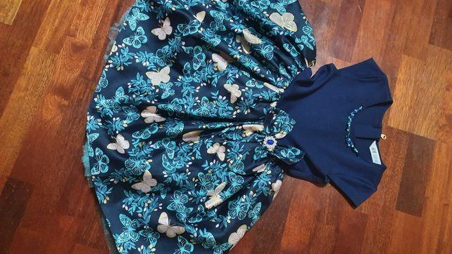 Продам нарядное платье HM, рост 116-128 с подарком