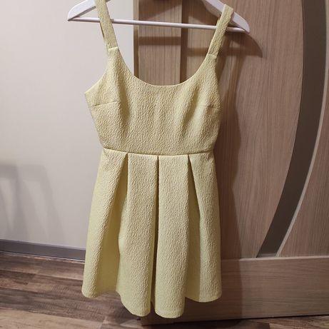 Sukienka żółta zara