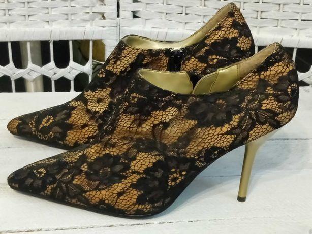 Koronkowe buty damskie roz 41
