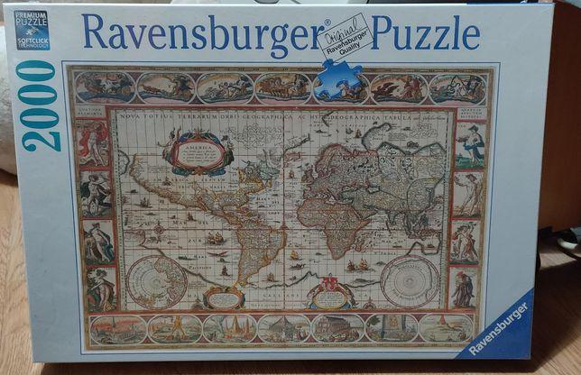 Puzzle Ravensburger 166336 Mapa Mundo Ano 1650