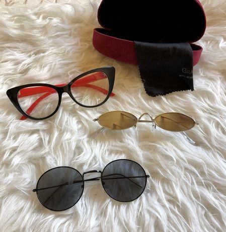 Очки солнцезащитные имиджевые набор 3 шт